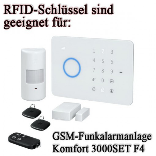 rfid schl ssel 3000t pentatech 2 er set f r funkalarmanlage alarm system 3000 f4 4015162335354. Black Bedroom Furniture Sets. Home Design Ideas