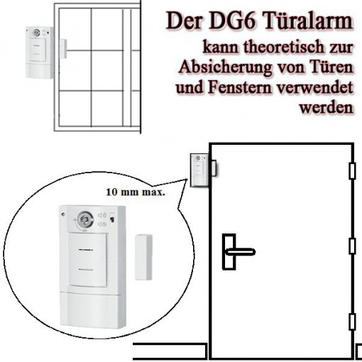 t r und fensteralarm m schl sselschalter dg6 pentatech. Black Bedroom Furniture Sets. Home Design Ideas