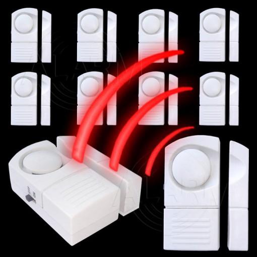 t r und fensteralarm 1 10 st ck t r fenster magnet einbruch sicherung alarm ebay. Black Bedroom Furniture Sets. Home Design Ideas